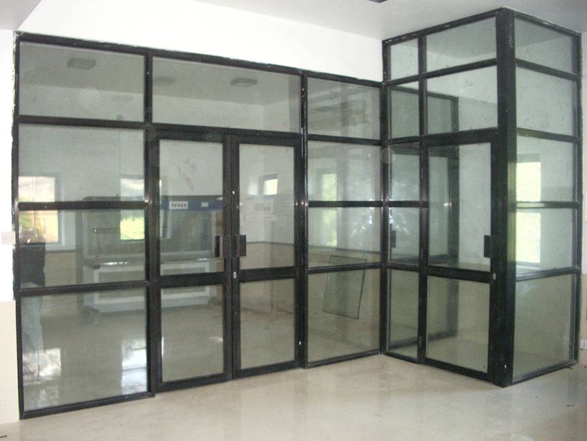 aluminium partition with door