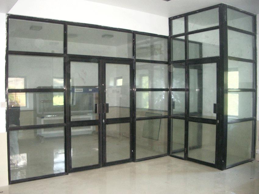 aluminium partition with door